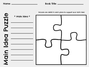 Main Idea Puzzle Board