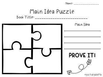 Main Idea Puzzle (No Lines)