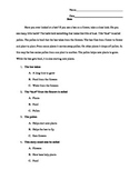 Main Idea Quick Read and Response