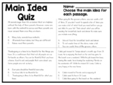 Main Idea Quiz