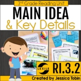 Main Idea and Details 3rd Grade RI3.2 with Digital Distanc
