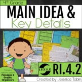 Main Idea RI4.2, Main Idea and Supporting Details Passages and Lessons