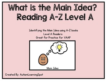 Main Idea - Reading A-Z level A