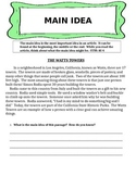 Main Idea Reading Comprehension