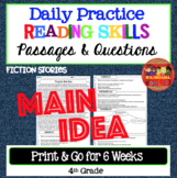 Daily Reading Comprehension Passages Main Idea 4th Grade