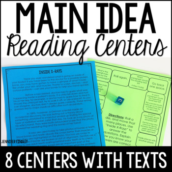 Main Idea Reading Games | Reading Centers for Main Idea and Details