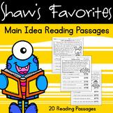 Main Idea Reading Comprehension Passages {20 Reading Passages}