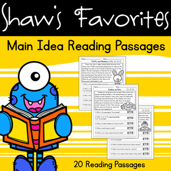 Main Idea Reading Comprehension Passages {20 Reading Passages}