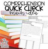 Main Idea Reading Passages, Comprehension Quick Checks