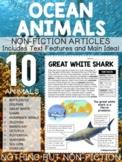 Main Idea Reading Passages: Ocean Animals