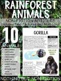 Main Idea Reading Passages: Rainforest Animals