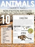 Main Idea Reading Passages: Variety of Animals