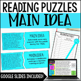 Main Idea Puzzles | with Digital Main Idea Activity - Dist