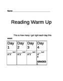 Main Idea Reading Warm Up