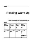 Main Idea Reading Warm Up