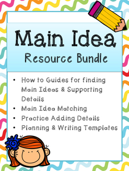 Main Idea Writing Resource Bundle