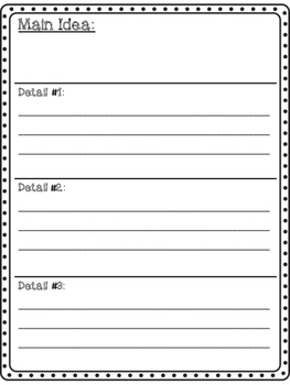 Main Idea Writing