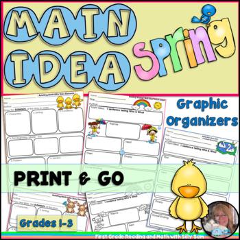 Main Idea SPRING! Retelling Graphic Organizers