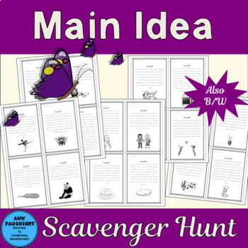 Main Idea Scavenger Hunt