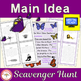 Main Idea Scavenger Hunt + Free BOOM Cards