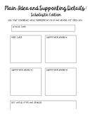 Main Idea Scholastic News Magazine (Emergency Sub Plans/ E