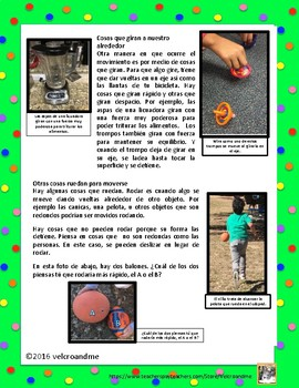 Balance y Movimiento Idea principal - Main Idea & Text Clues