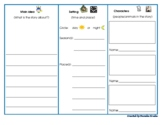 Main Idea Setting Characters Graphic Organizer