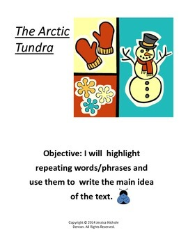 Main Idea- Short Non Fiction Text- Arctic Tundra
