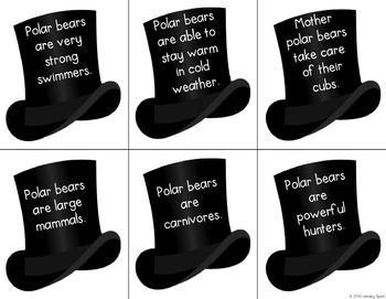 Main Idea Snowmen Matching {Polar Bear Themed}