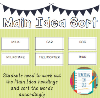 Main Idea Sort *FREEBIE*