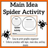 Main Idea Spider Graphic Organizer