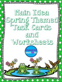 Main Idea Spring Themed