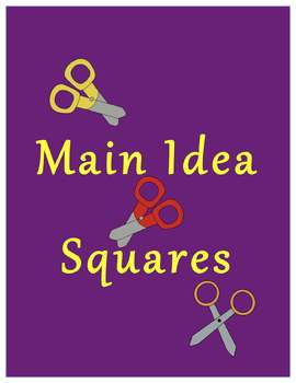 Main Idea Squares Hands-On Main Idea and Supporting Detail Activity