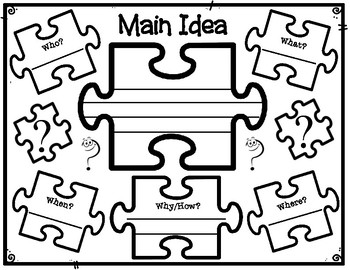 Main Idea Statement Jigsaw Puzzle Piece Graphic Organizer