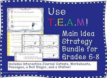 Main Idea Strategy Bundle: T.E.A.M. or TEAM