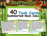 Summarizing - Main Idea Task Cards and Test