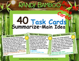 Summarizing - Main Idea Task Cards and Test