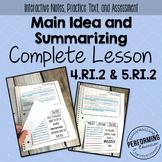 Main Idea & Summarizing: Complete Lesson for Interactive N