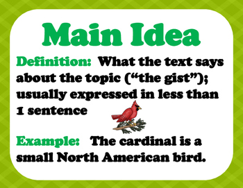 main idea definition for students