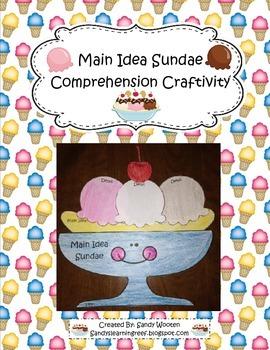 Main Idea Sundae Reading Comprehension Craftivity to Use w