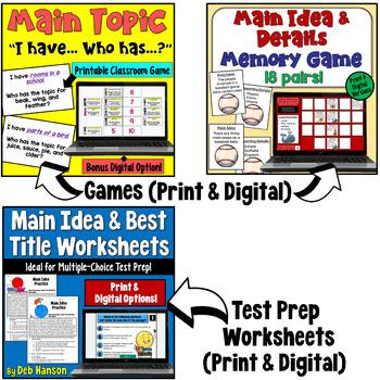 Main Idea Bundle (4th, 5th, and 6th grade)