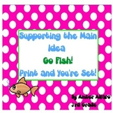 Main Idea & Supporting Detail Go Fish Game ~ ELA CCSS Center Activity ~ 3rd+ ESL