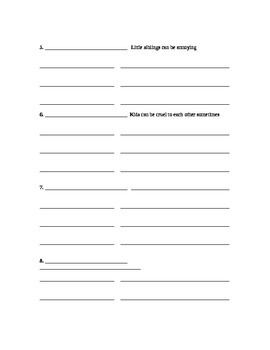 Main Idea Supporting Detail worksheet