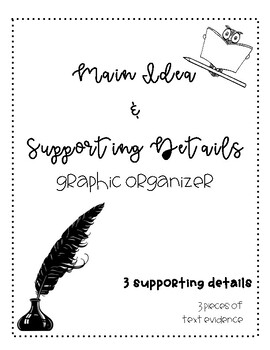 Main Idea/Supporting Details Graphic Organizer
