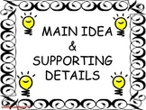 Main Idea & Supporting Details - Middle School
