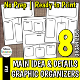 Main Idea & Details Graphic Organizer Set