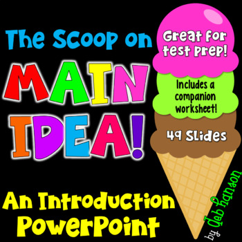 Main Idea Ice Cream Cone Teaching Resources Teachers Pay Teachers
