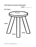 Main Idea, Supporting Details Seat Graphic Organizer