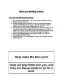 Main Idea & Supporting Details Sorting Activity