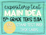 Main Idea & Supporting Details Task Cards TEKS 5.11A STAAR Test Prep Grade 5